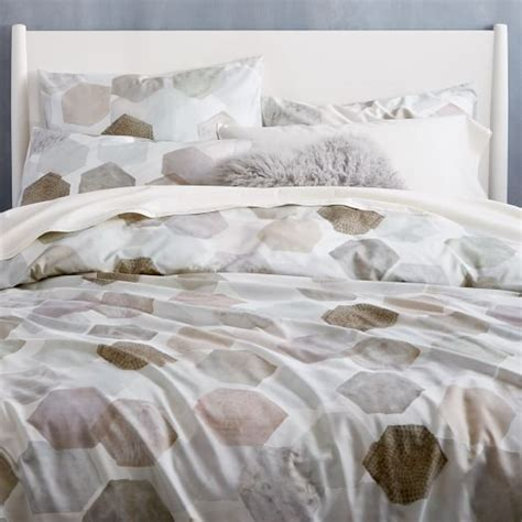 west elm bedding 400 thread count organic geo sateen duvet cover shams