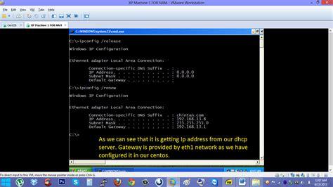 configure xp centos dhcp configuration server centos client xp hack the knox