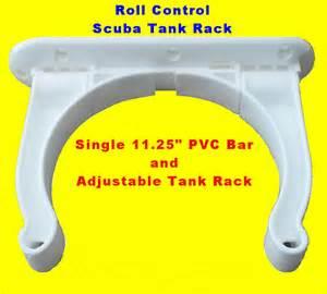 roll pvc 11 track bar w adjustable scuba tank