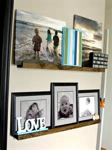 picture ledge ideas diy picture ledge the updates gallery wall