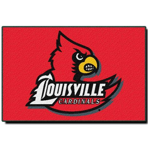 louisville bedding louisville cardinals ncaa college 39 quot x 59 quot acrylic tufted rug