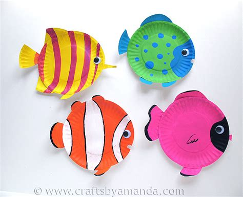 Paper Fish Craft - fish paper plates images