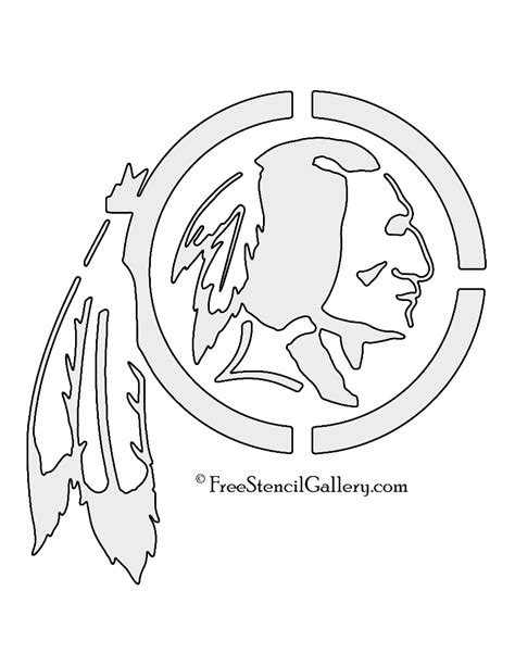 nfl washington redskins stencil free stencil gallery
