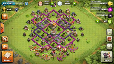 th7 layout update town hall 7 trophy base no barbarian king www pixshark
