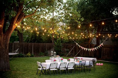 Backyard Lighting Ideas by How To Throw A Backyard The Massey Team