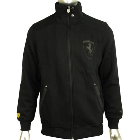 ferrari jacket mens puma scuderia ferrari sf formula 1 black track top