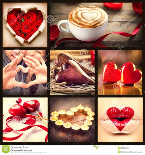 valentines day collage st valentines day collage stock images image 37213454