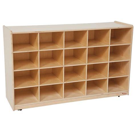 Cubby Storage Cabinet by Wood Designs Cubby Storage Cabinet 20 Tray W O Bins