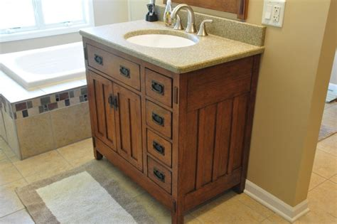 Craftsman Style Bathroom Vanity by Bonus Room Craftsman Bath Craftsman Bathroom Chicago By Someone S In The Kitchen Inc