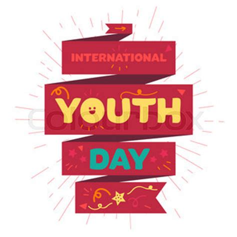 youth day invitations flyers vintage template card of international youth day for