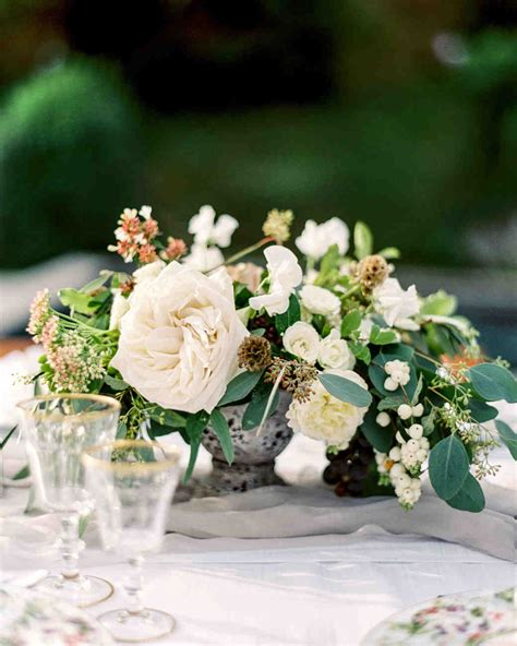 white flower wedding arrangements floral wedding centerpieces martha stewart weddings