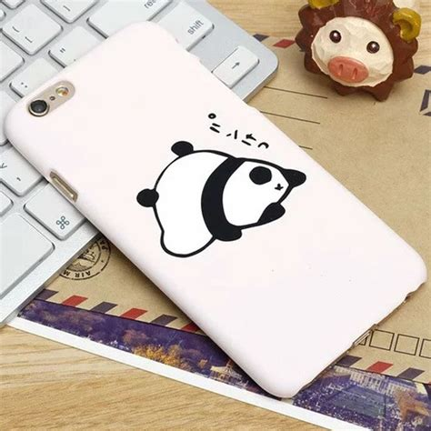 cute lovely kawaii japanese words panda frosted case coque