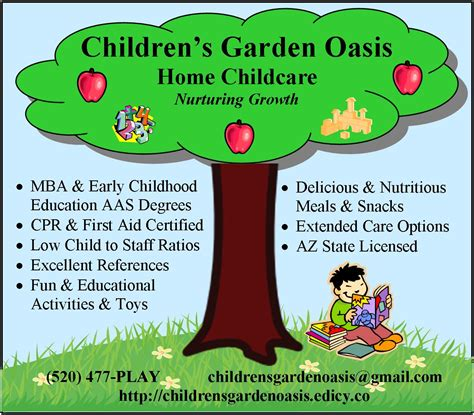 children s garden oasis home childcare tucson az child
