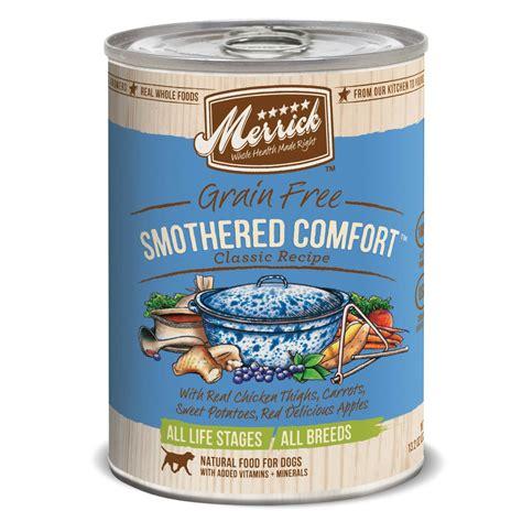 petco merrick food merrick classic grain free smothered comfort canned food petco