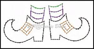halloween witches feet embroidery pattern for greeting by