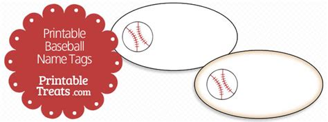 printable baseball tags free printable baseball name tags printable treats com