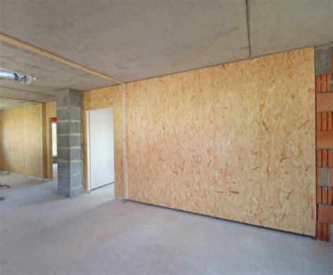 Decke Osb Platten by Holzst 228 Nderwand Aus Osb Platten Bauhandwerk