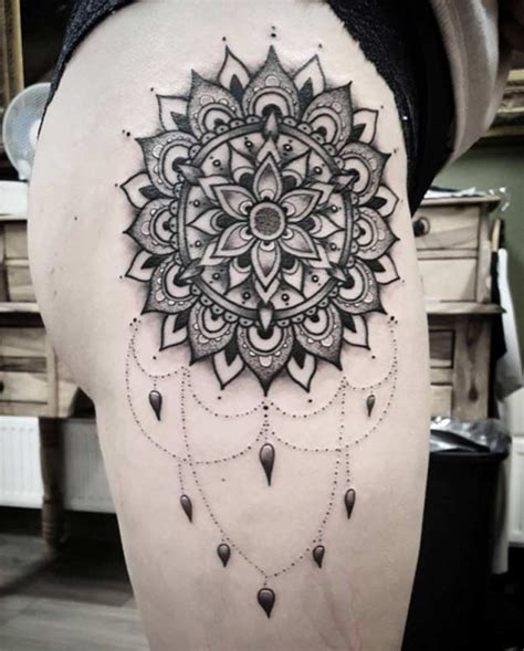 mandala tattoo on hip my floral tattoo done by kristen goetz at visionary