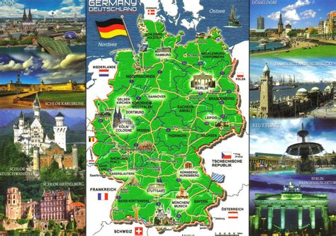 germany attractions map things about germany map