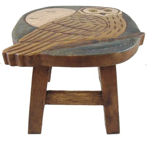 Wooden Child Step Stool carved wise owl wooden child step stool ebay
