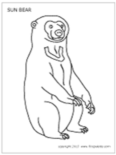 sun bear coloring pages sun bear printable templates coloring pages