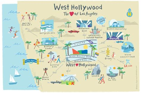 map of los angeles hotels west ca guide to hotels shopping restaurants