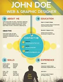 Creative resume / CV PSD template (CMYK print ready