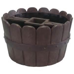 mpg 20 in dia cast mailbox planter in barrel