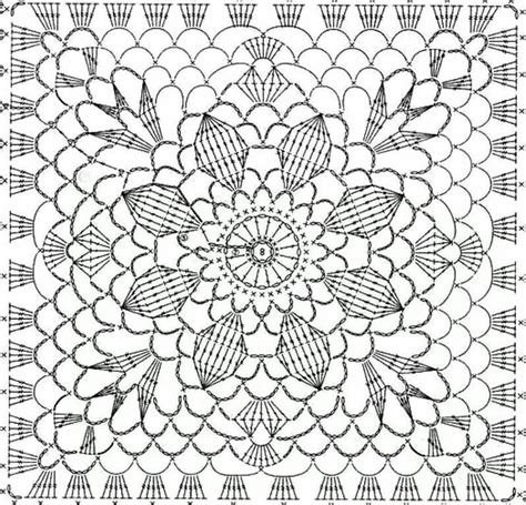 Pola Motif Gurita Pattern Patterns crochet hexagons squares and triangles 10