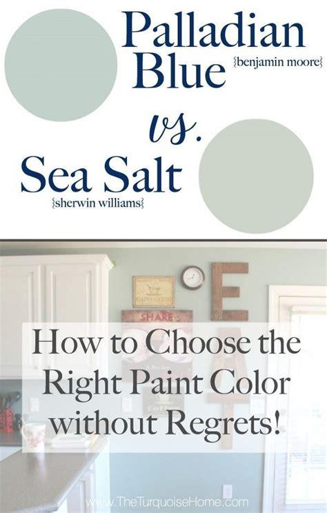 sherwin williams sea salt coordinating colors sea salt vs palladian blue choose paint colors without