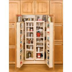 shop rev a shelf 45 in wood swing out pantry kit at lowes