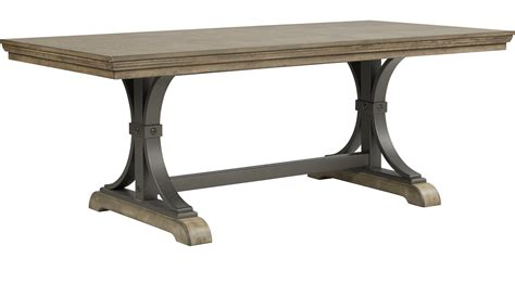 Driftwood Dining Tables Vista Driftwood Brownish Gray Rectangle Dining Table Rustic
