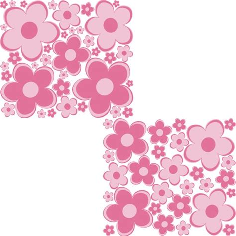 pink flower wall stickers pink flowers peel and stick wall stickers