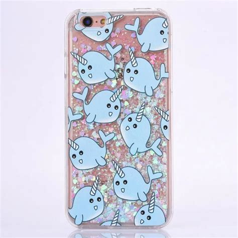 021e43r Liquid Pattern Design Iphone 5 dolphin unicorn color painting pattern design sand glitter liquid cases for