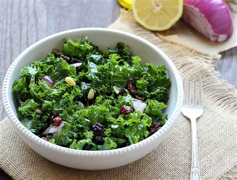 Kale Apple Green Detox Salad detox kale salad with lemon apple vinaigrette