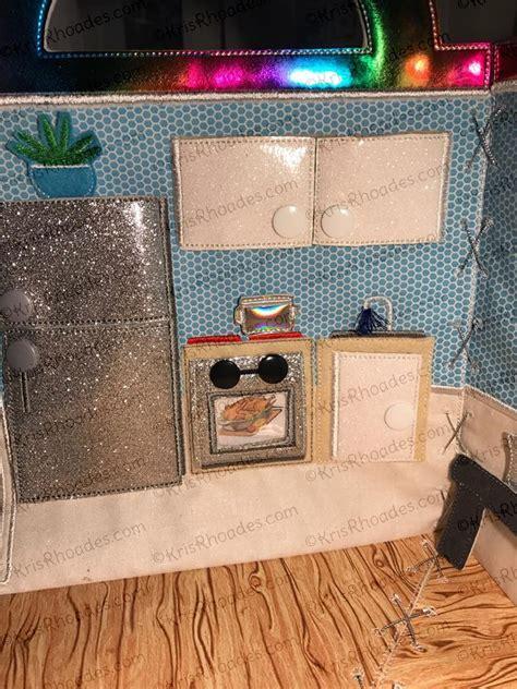 Quiet Book Dollhouse   8x8 Kitchen Embroidery Design