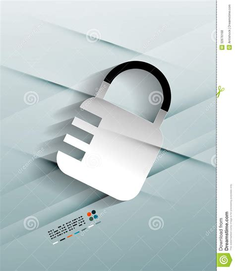How To Make Paper Lock - vector lock paper design stock vector image of network