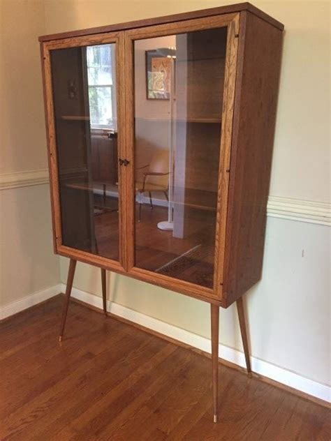 glass front cabinet mid century glass front display cabinet by broyhill