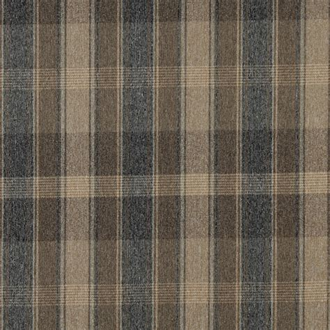 Country Style Upholstery Fabric by 54 Quot Quot Wide C641 Brown Blue And Beige Large Plaid