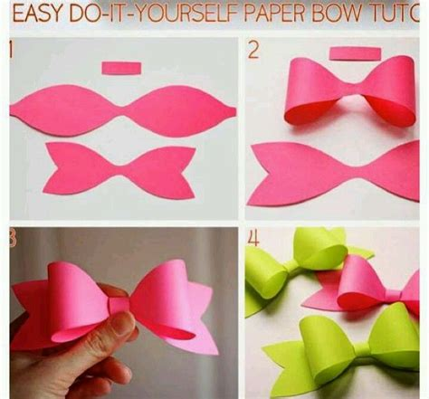 Diy Construction Paper Crafts - best photos of diy paper bows diy paper bows