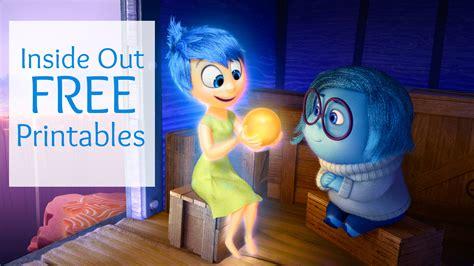 disney pixar inside out free printables disney pixar inside out free printables highlights along