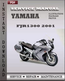Yamaha Fjr1300 2001 Service Manual Download Repair
