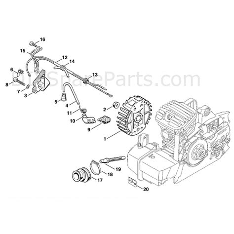 stihl ms 310 parts diagram stihl ms 310 chainsaw ms310 parts diagram ignition system