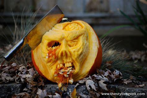 zombie pumpkin tutorial zombie pumpkin speed carving tutorial youtube