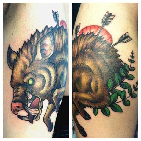hog hunting tattoo designs hog tattoos images