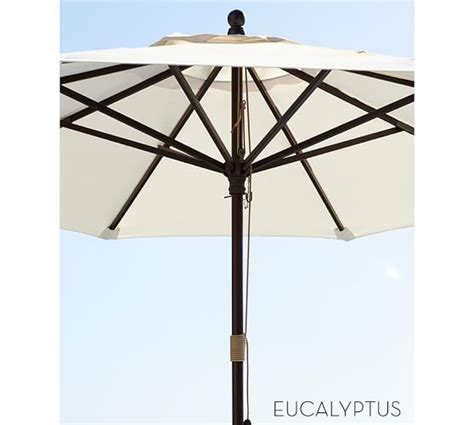 Pottery Barn Patio Umbrella Market Umbrella Harbor Stripe Sunbrella 174 Pottery Barn