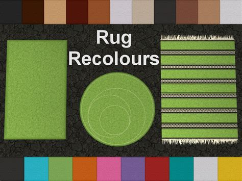 sims 2 rugs mod the sims rug recolours