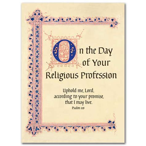 Religious Wedding Congratulation Cards by On The Day Of Your Religious Profession Religious