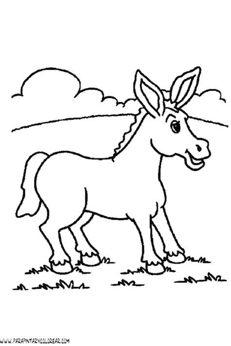 imagenes para colorear burro dibujos para colorear de burros 002