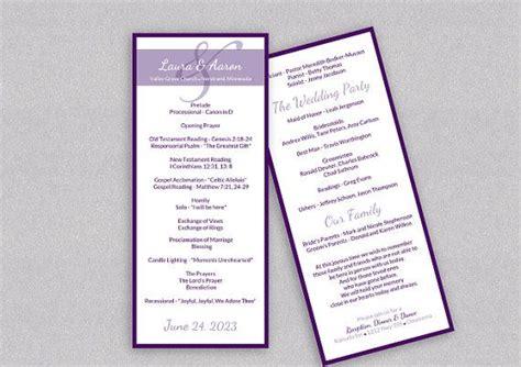 diy wedding program template  instantly